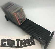 Trading Card Clip Track Storage Display Top Loader Stand Holder Storage Display