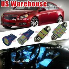 9-pc Aqua Ice Blue Interior LED Light Package Inside Kit For 11-16 Chevy Cruze
