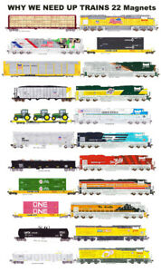 Union Pacific Why We Need Trains 22 magnets by Andy Fletcher