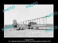 OLD LARGE HISTORIC MILITARY PHOTO WWI GALLIPOLI NAVAL AIR PLANE TENEDOS c1915