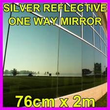 76cm x 2m silber reflektierend Eine Weg Spiegel Fenster Folie Solar