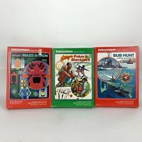 Mattel Intellivision Video Game Lot of 3 games COMPLETE Good Condition untested