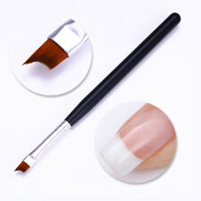 Nail French Brush UV Gel Painting Drawing Pen Black Matte Handle Manicure Tool