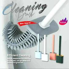 Silicone Toilet Brush with Toilet Brush Holder Cleaning Brush Set