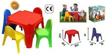 Tisch Kinder mit 4 Stühle Tisch Garten Pic Nic Kinder Kunststoff Bunt