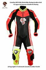 Lionstar Rio Niños Moto Traje de Cuero Moto Racing con CE las cotas de malla