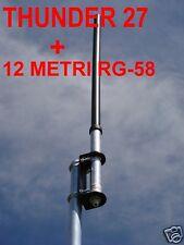 SIRIO THUNDER 27 ANTENNA 27 MHZ 25-29 MHz DA BASE + 12 METRI DI CAVO CON PL 259