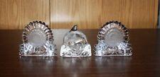 3 Partylite Glass Tea Light Holders - 2 Sunflowers & 1 Dolphin