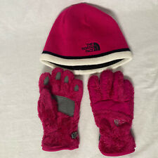 The North Face Girls Youth Pink Winter Gloves & Stocking Cap Size Medium