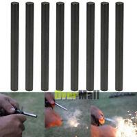 "Lot 8 x Ferrocerium 5/16"" Flint Fire Starter Survival Magnesium Rod Kits Lighter"