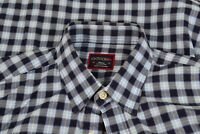 UNTUCKit Blue Plaid 100% Cotton Long Sleeve Button Up Shirt Sz S