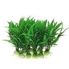 10pcs Artificial Green Plants Aquarium Tank Fish Plastic Grass Decoration BF