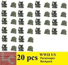 LC Brique seconde guerre mondiale (2) 20 US Paratrooper Bagpack SOLDAT WWII WW2 Accessoire