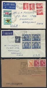 AUSTRALIA & BRITISH COMMONWEALTH 1950 20s COLLECTION OF 25 COMMERCIAL COVERS INC