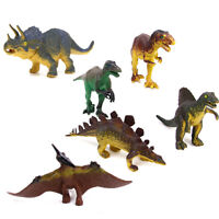 6x Large-sized Dinosaur Jurassic Animal Action Figures Kids Learn Toys Gift