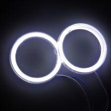 2X 80mm White COB LED Angel Eyes Halo Ring Running Light Bulbs Lamp Headlight
