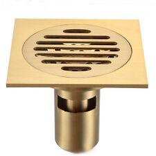 10*10cm Drain Trap Square Bathroom Shower Floor Drain Vintage Artistic Style