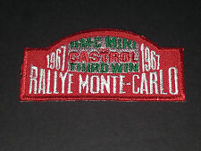 MOTORSPORTS MOTOR RACING SEW/IRON ON PATCH:- MINI 1967 RALLYE MONTE-CARLO