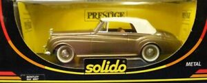Solido 8007 Bentley 1961 S2 - Gold 1/18 France Die-cast MIB