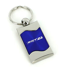 Dodge SRT-4 Blue Spun Brushed Metal Key Ring
