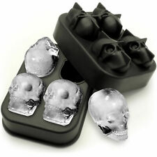 1x Skull Ice Cube Maker Flexible Silicone Mould 4x4.5cm ghost Whiskey Cocktail