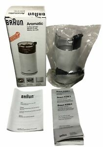 Braun KSM 2 Aromatic Coffee Grinder 2.5 oz - White New in Open Box/Never Used