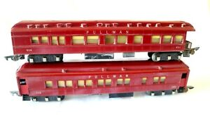 AC1959: American Flyer S Gauge Pullman Coaches 652 & 654 (2)