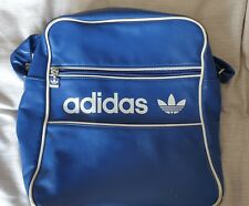Adidas Vintage Messenger Type Bag, Blue and White, Faux Leather