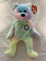 "Birthday Bear ""BB Bear"" TY Beanie Baby 1999 Original, MWMT, Rare Retired Errors"