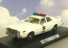 "1/43 GREENLIGHT 1977 PLYMOUTH FURY HAZZARD COUNTY POLICE CAR ""DUKES OF HAZZARD"""
