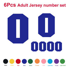 6pcs set Adult Jersey Number Vinyl Heat Transfer Iron-On Sports T-Shirt Football