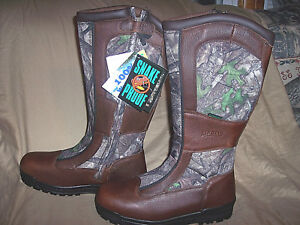 Mens 13 Snake Proof Boots Water Proof Boots Camo Hunting Boots Leather Boots 13R