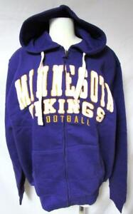 Minnesota Vikings Men M  L Full Zip Embroidered High End Hooded Sweatshirt YZ 12