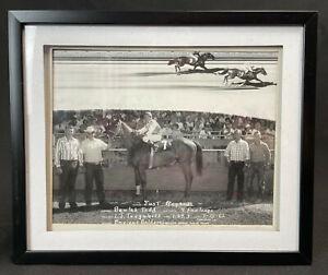 "Vintage Race Horse Photo ""Just Regards"" Prescott Downs 1962, Arizona 12"" x 10"""