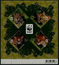 THAILAND - 2011 WWF 'WILDLIFE - LEOPARD CAT' Miniature Sheet MNH [C0577]