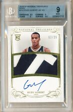 2013-14 National Treasures Rudy Gobert Gold Auto Patch Rookie RC /25 BGS 9/10