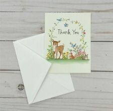 Thank You Note Cards Deer Woodland Animals 8 Count