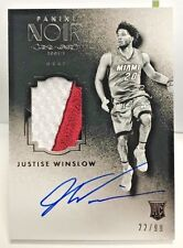 Justise Winslow 2015-16 Panini NOIR Black&Whit 3 Color Patch RC on-card Auto /99