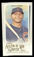 2020 Topps Allen and Ginter A&G Back Mini #199 Nico Hoerner RC - Chicago Cubs