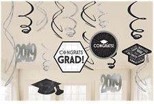 12 x 2019 Graduation Hanging Swirl Party Decorations