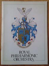 Royal Philharmonic Orchestra programme Royal Festival Hall 1st May 1979 Dutoit