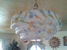 Refreshing Stepped Orange , Blue 7 Green Splash Ceiling Light Pendant Shade