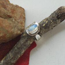 Mondstein, weiß, blau, Edelstein, modern, Ring, Ø 18,25 mm, 925 Sterling Silber