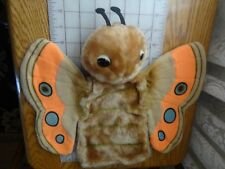 VINTAGE DAKIN 1982 orange tan BUTTERFLY INSECT HAND PUPPET STUFFED PLUSH 12""