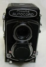 MINOLTA AUTOCORD CAMERA,  TWIN LENS REFLEX WITH CASE AND MANUALS