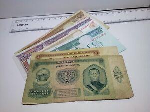 🇲🇳 Mongolia assortment of 6 old Banknotes Tugrik Tögrög  Currency 040621-4