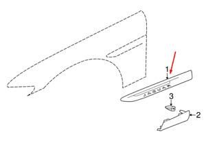JAGUAR F-PACE X761 Right Fender Black Trim T4A27230 New Genuine
