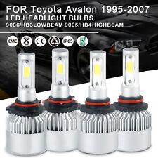 4pc LED Headlight Bulbs Kit 9005 9006 High Low Beam For Toyota  Avalon 1995-2007