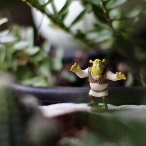 """Tiny Shrek Figure Holdable Meme PVC Plastic Smol Pixar Disney 1.5"""""""