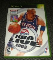 NBA LIVE 2003 - XBOX - COMPLETE WITH MANUAL - FREE S/H - (TT)